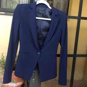 BCBG Max Azria Curved Hem Like New Blazer